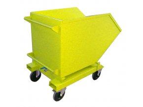 vyklopny kontejner s kapsami kohoutem zluty