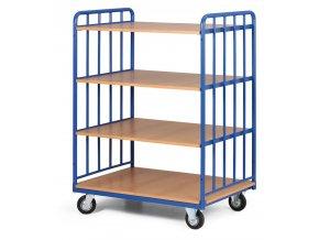 policovy vozik vysoky dve strany profilu ctyri etaze z drevotrisky 400 kg