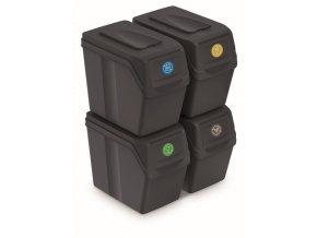 sada na trideni dopadu sortibox 20 litru 4 nadoby antracitova