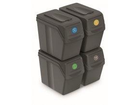 sada na trideni dopadu sortibox 20 litru 4 nadoby seda