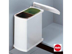 Vestavný odpadkový koš, Hailo AS Duo 8/8 Öko Flex, bílý