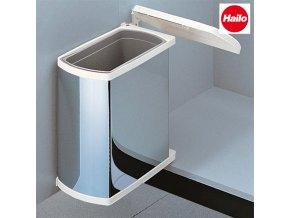 Vestavný odpadkový koš, Hailo AS Duo 18 Öko Flex, nerez-bílý