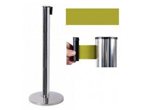 zahrazovaci sloupek bariera skladem levny flexibilni pas stribrna zluta aaa