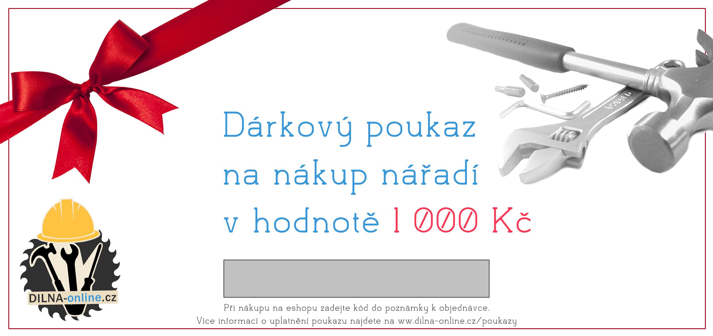 Dárkový poukaz na nářadí 1 000 Kč