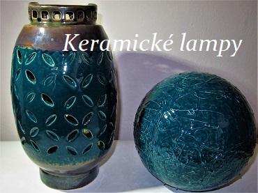 Ručně vyrobené lampy z keramické hlíny