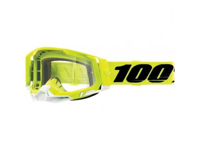 gafas 100 racecraft 2 2021 color amarillo lente transparente
