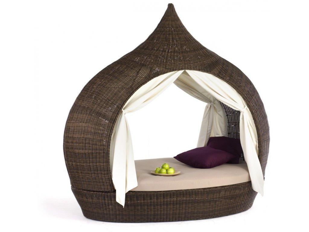 Eye Catcher Double Lounge 2 open sides cubu croco D3.7 cafe&indigo cushion0065
