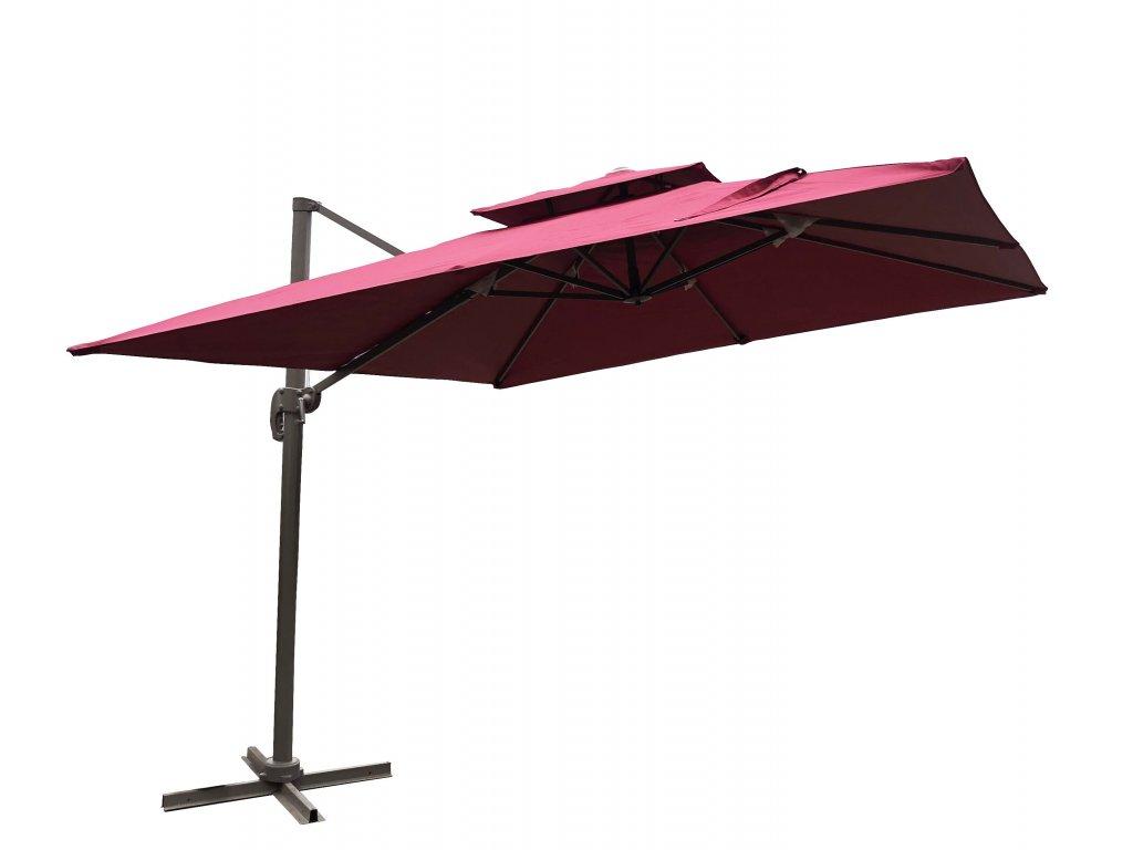 3x3M ROMA umbrella red