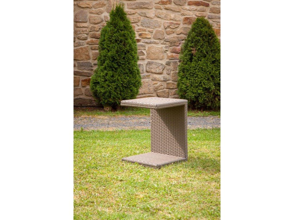 DF 010111 Odkládací stolek hnědý