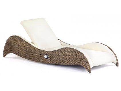 Luxor Single Sunlounger gold cane peel 7x3.8 marina 0133