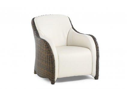 Luxor Lazy Armchair gold cane 7x3.8 marina0148