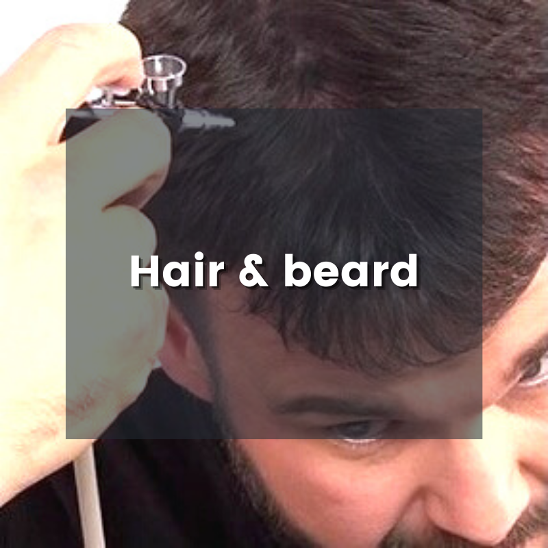 Dinair hair and beard