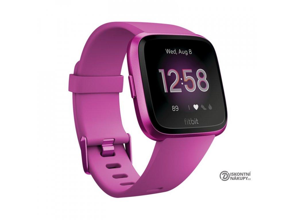 Chytré hodinky Fitbit Versa Lite - Mulberry Case / Mulberry Band  Vráceno ve 14ti denní lhůtě