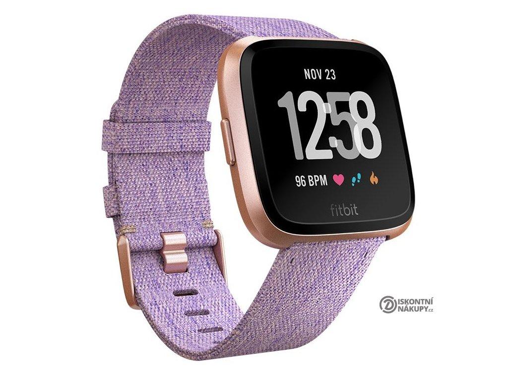 Chytré hodinky Fitbit Versa (NFC) - Lavender Woven  Vráceno ve 14ti denní lhůtě