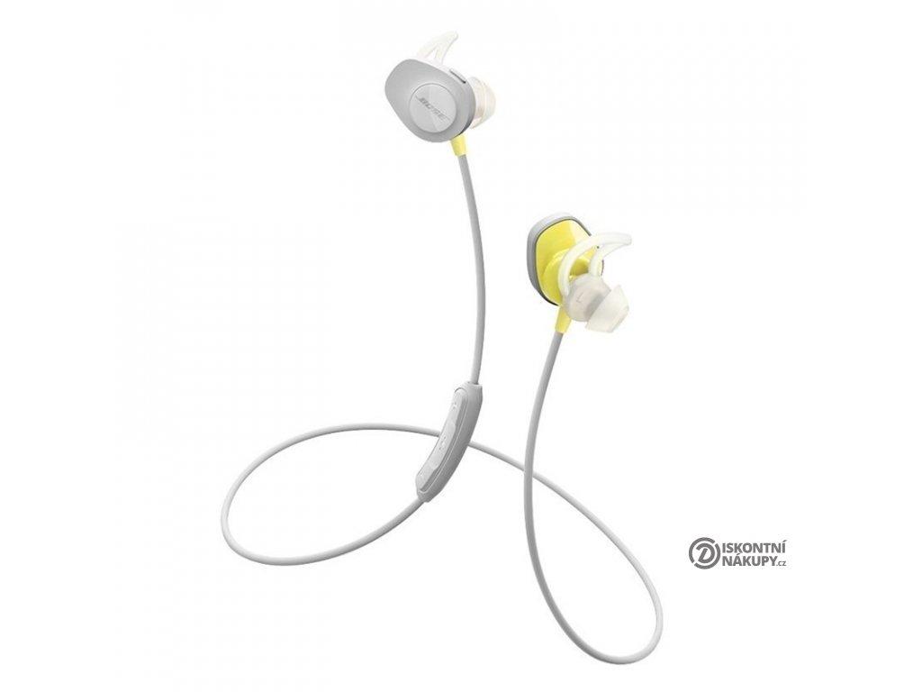 Sluchátka Bose SoundSport Bluetooth šedá/žlutá  Vráceno ve 14ti denní lhůtě