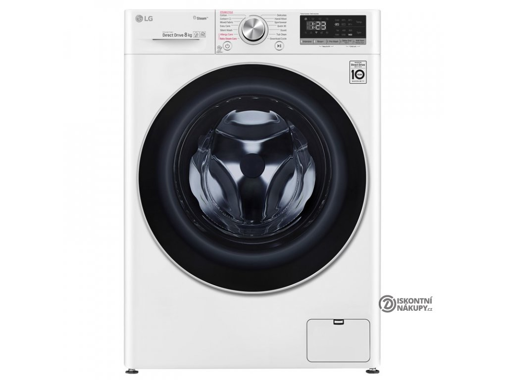 Pračka LG F4WN508S1 parní bílá  Nepoužité zboží - Pouze rozbaleno