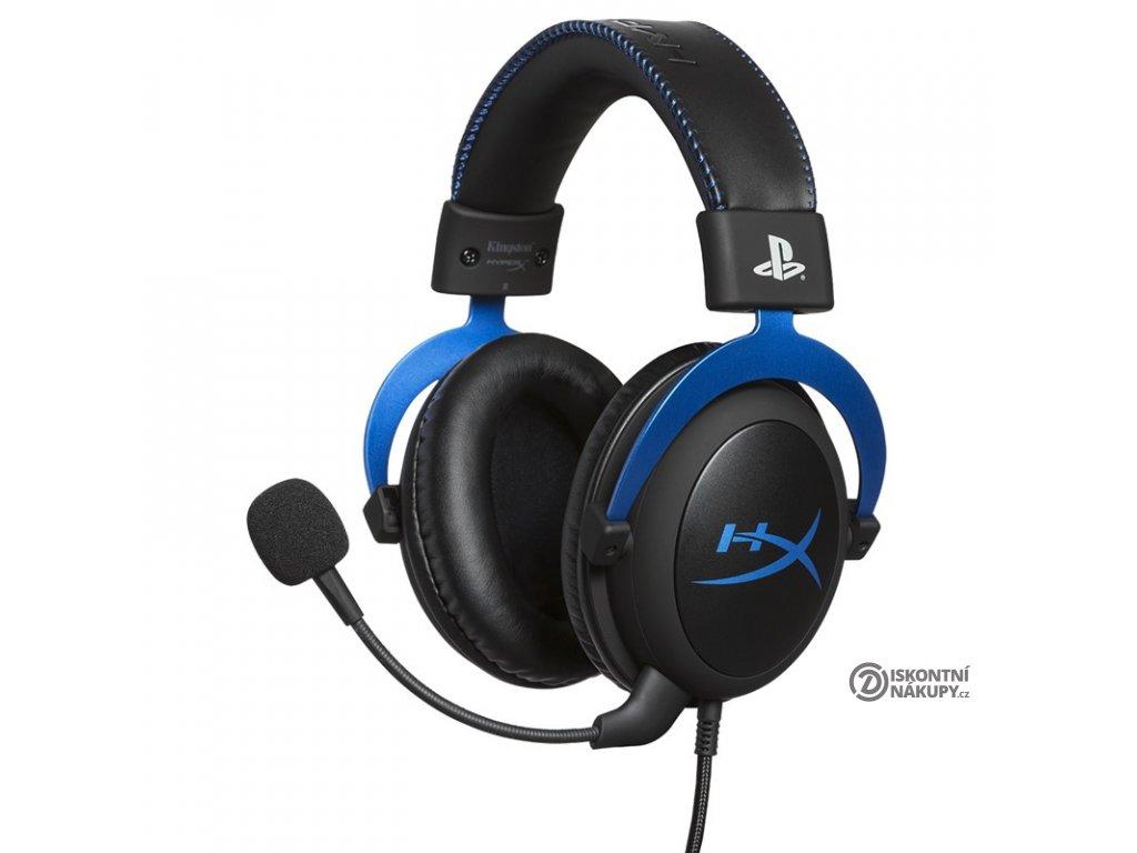Headset HyperX Cloud Gaming pro PS4 černý/modrý  Vráceno ve 14ti denní lhůtě