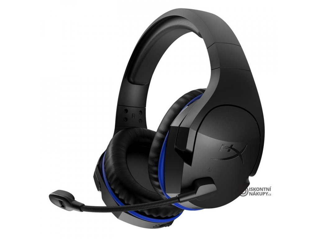 Headset HyperX Cloud Stinger Wireless černý/modrý  kinhxscswbk
