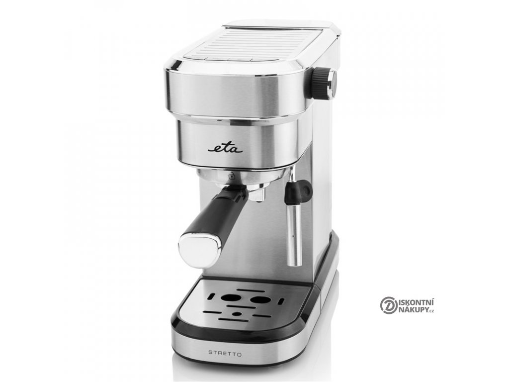 Espresso ETA Stretto 2180 90000 nerez  nepoužito - poškozená krabice - na nerezu drobná promáčklina