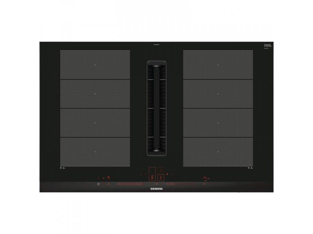 Indukční varná deska s odsáváním Siemens EX875LX67E černá