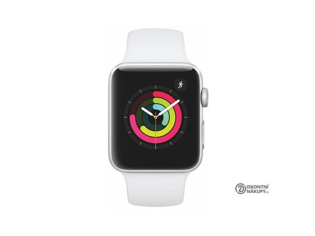 Chytré hodinky Apple Watch Series 3 Watch Series 3 GPS 42mm pouzdro ze stříbrného hliníku - bílý sportovní řemínek  appmtf22cna