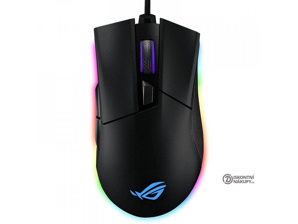 Myš Asus ROG Gladius II Origin černá  Rozbaleno - Poškozený obal