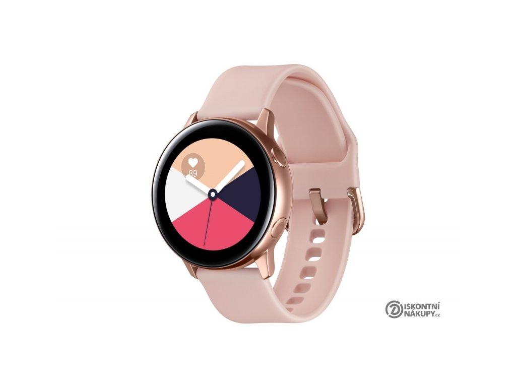 Chytré hodinky Samsung Galaxy Watch Active růžová/zlatá  Vráceno ve 14ti denní lhůtě - Chybí prodlužovací řemínek