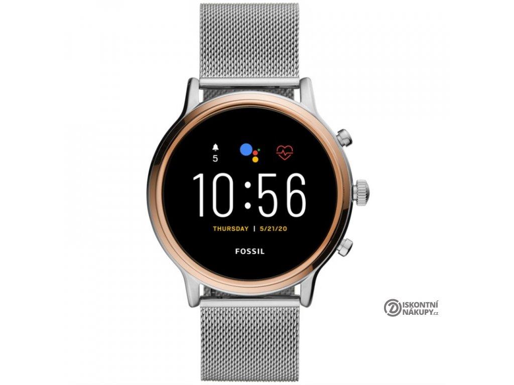 Chytré hodinky Fossil FTW6061 HR - Stainless steel Mesh  Vráceno ve 14ti denní lhůtě