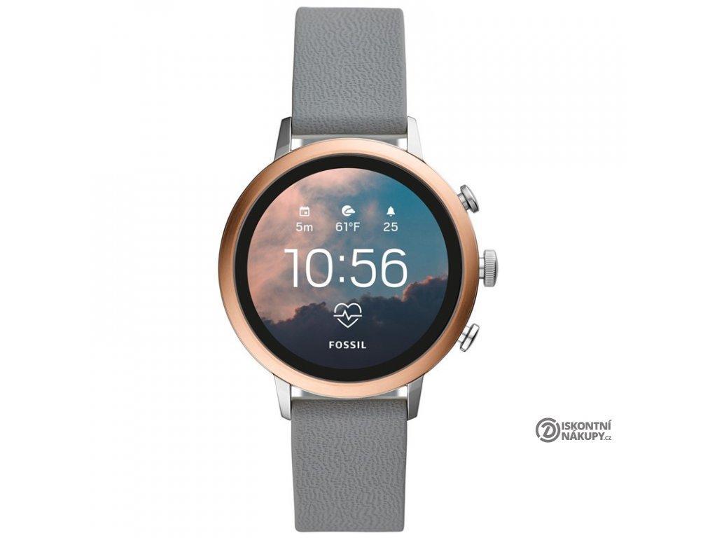 Chytré hodinky Fossil Venture HR - Gray Silicone  FSLFTW6016