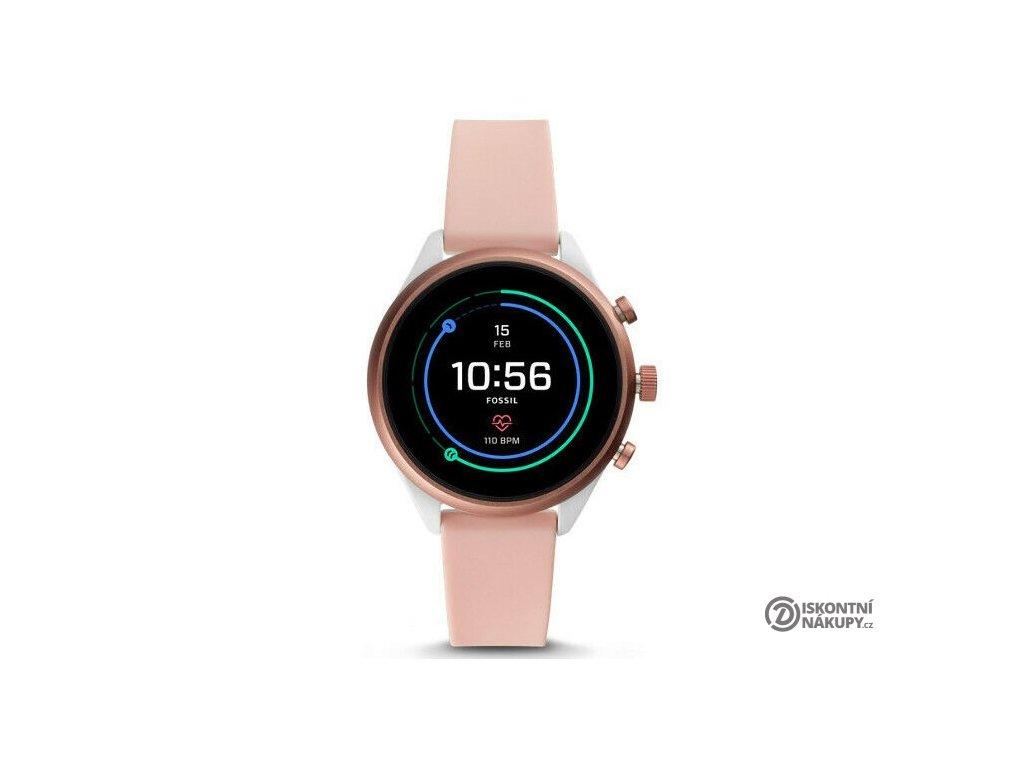 Chytré hodinky Fossil Sport 41mm - Blush Silicone  Vráceno ve 14ti denní lhůtě
