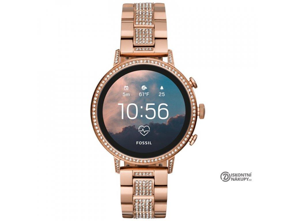 Chytré hodinky Fossil Venture HR - RoseGold Stainless Steel  Vráceno ve 14ti denní lhůtě - Oděrky na pásku