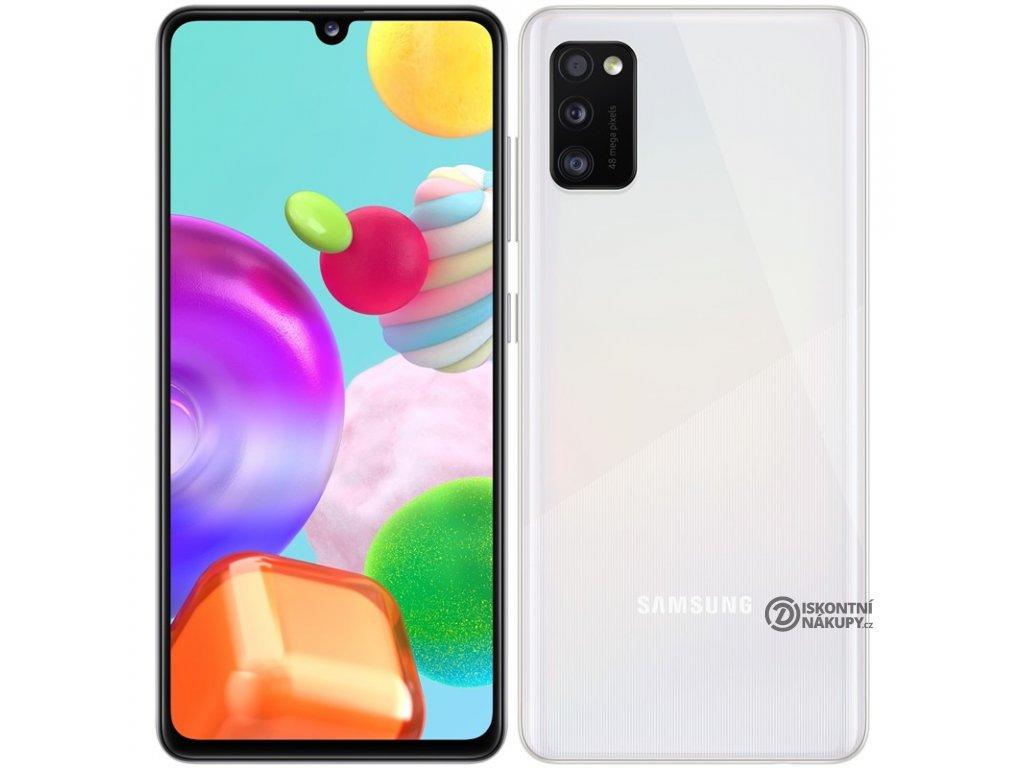 Mobilní telefon Samsung Galaxy A41 Dual SIM bílý  samsma415fzwdeue