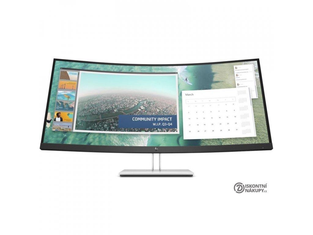 Monitor HP E344c Curved černý/stříbrný  POSKOZENY OBAL - VYSTAVENO