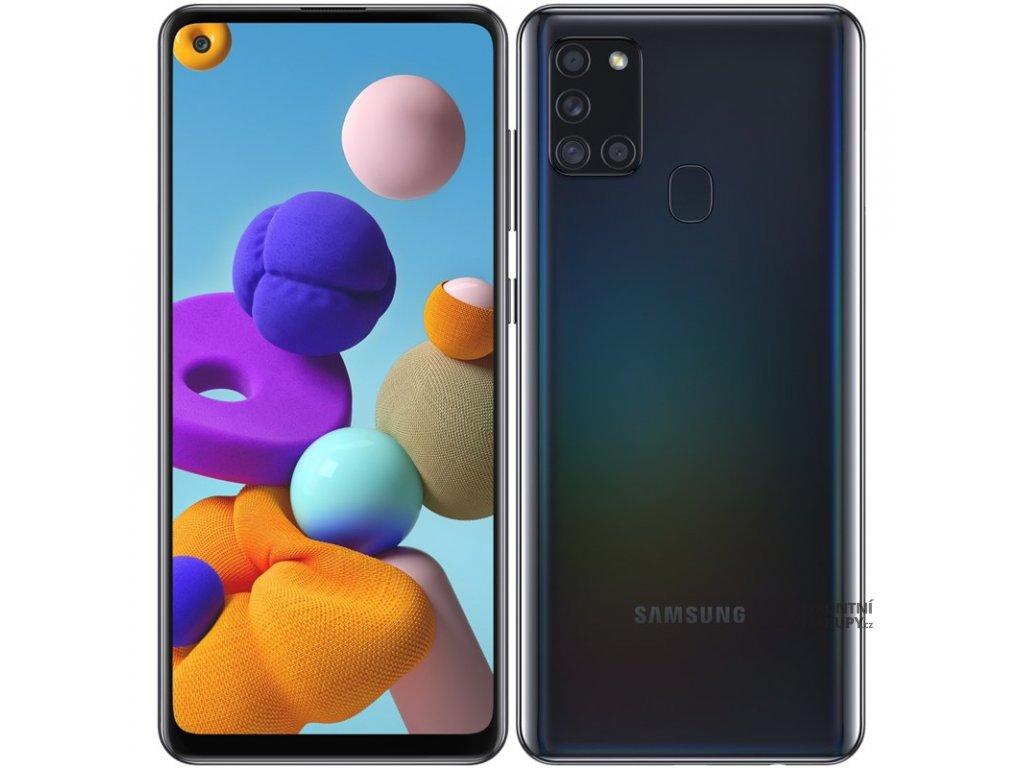 Mobilní telefon Samsung Galaxy A21s 64 GB černý  samsma217fzkoeue
