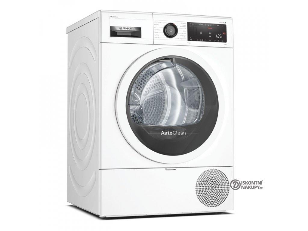 Sušička prádla Bosch Serie   8 WTX87MW0CS bílá  nepoužito-rozbaleno-malá oděrka na dvířkách