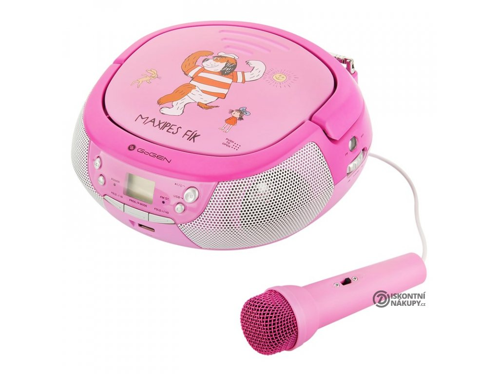Radiopřijímač s CD GoGEN Maxipes Fík MAXIPREHRAVAC P růžový/fialový  gogmaxiprehravacp