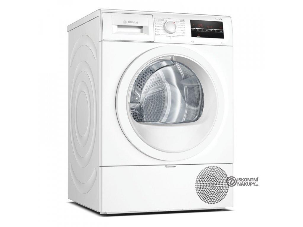 Sušička prádla Bosch Serie   6 WTR87TW1CS bílá  Nepoužito - Pravá strana oděrky - Ošoupaná dvířka