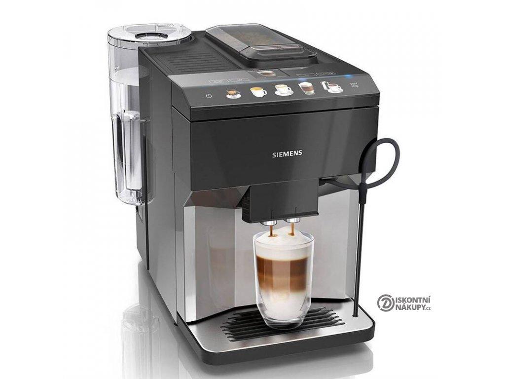 Espresso Siemens TQ507R03 černé/nerez  Odzkoušeno - Vráceno - Oděrky na černém lesklém povrchu