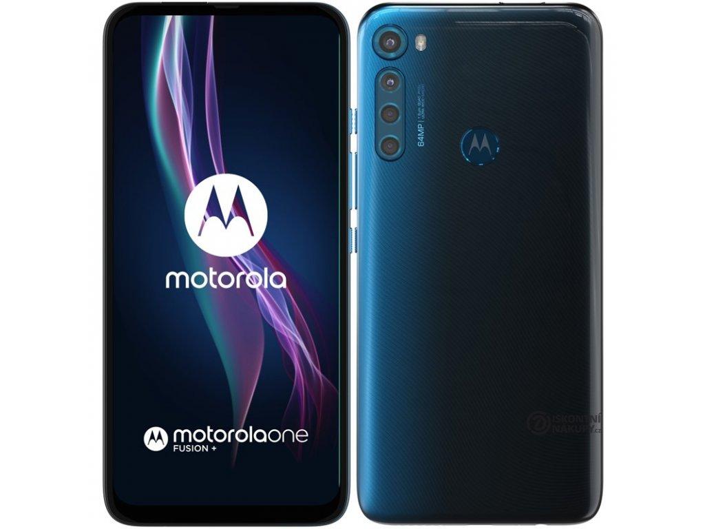 Mobilní telefon Motorola One Fusion+ modrý  .Poškozený obal - Vystaveno