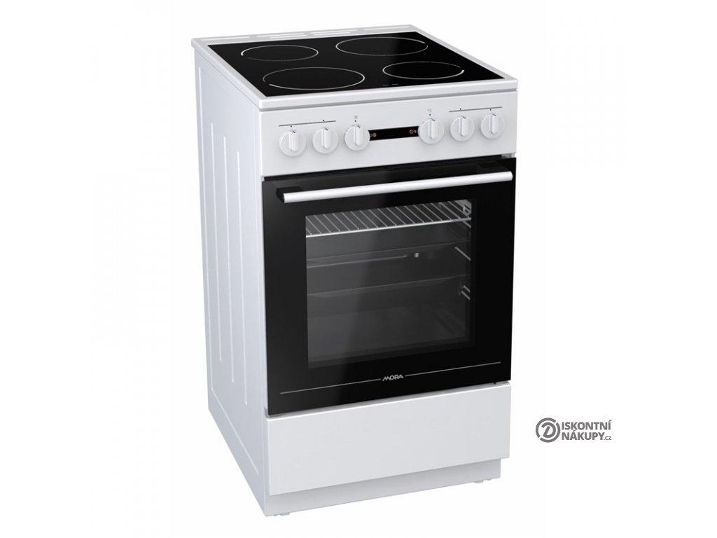Sklokeramický sporák Mora Premium C 110 AW bílý  Nepoužito - Rozbaleno