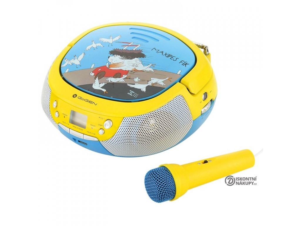 Radiopřijímač s CD GoGEN Maxipes Fík MAXIPREHRAVAC B modrý/žlutý  Pouze rozbaleno