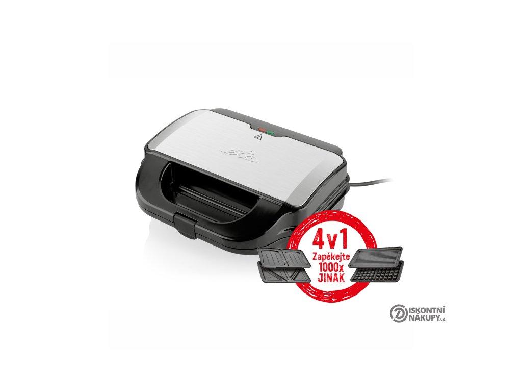 Sendvičovač ETA Sorento 3151 90010 černý/nerez  Nepoužito - Vystaveno - Poškozená krabice