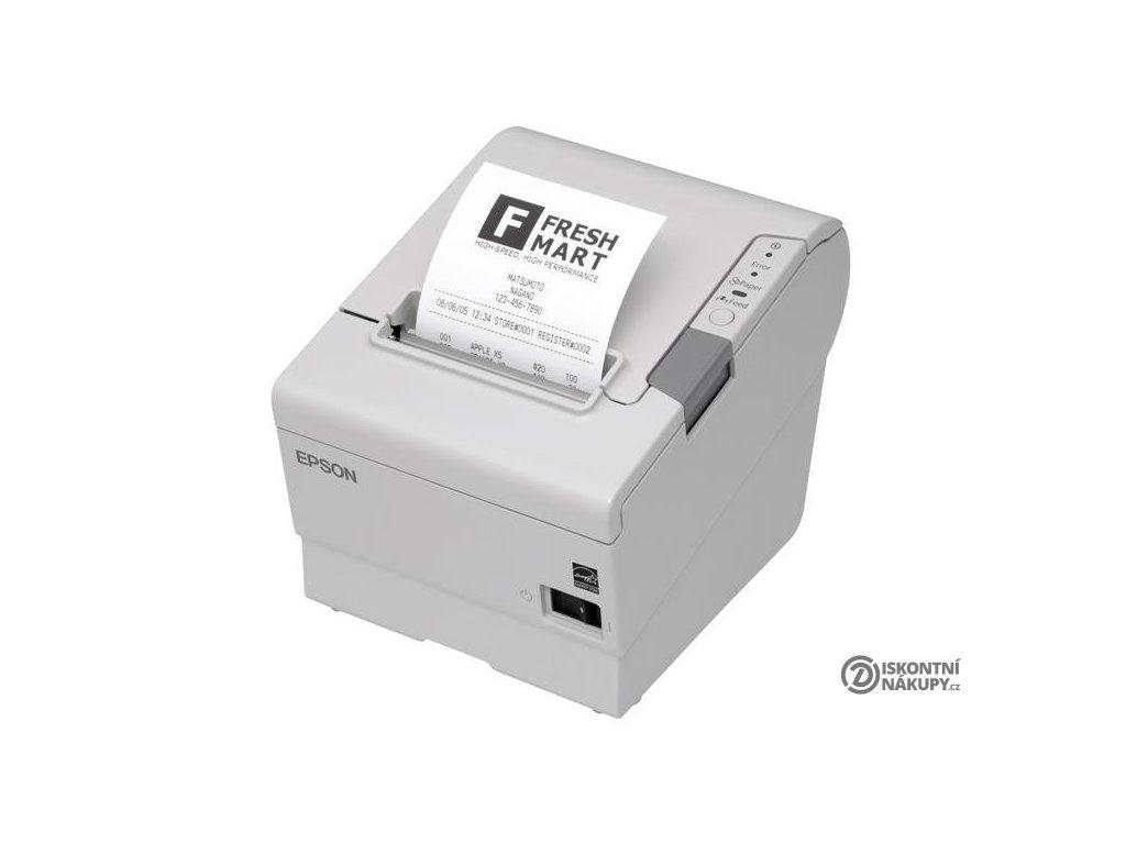 Tiskárna pokladní Epson TM-T88V bílá termální, LPT, USB, 300 mm (C31CA85813)  Poškozený obal-vystaveno