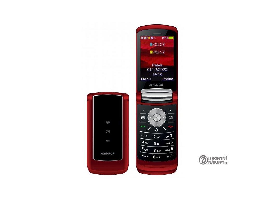 Mobilní telefon Aligator DV800 červený