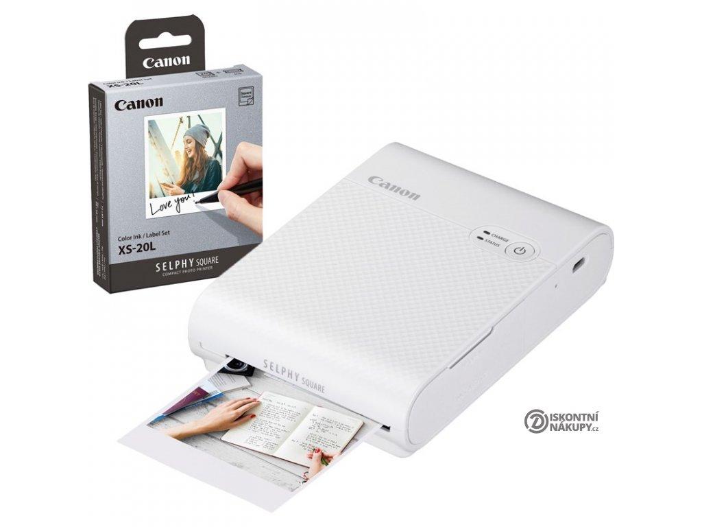 Fototiskárna Canon Selphy Square QX10  Vráceno ve 14ti denní lhůtě - Chybí 1ks papírku na foto