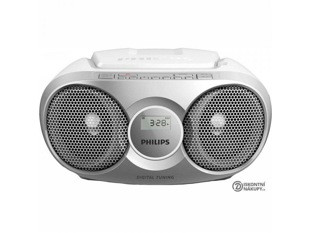 Radiopřijímač s CD Philips AZ215S stříbrný  Vráceno ve 14ti denní lhůtě - kosmetické oděrky
