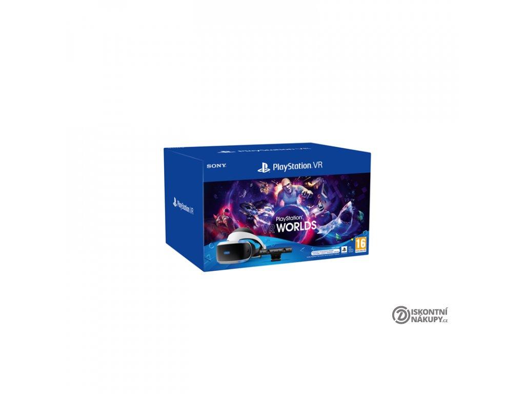 Brýle pro virtuální realitu Sony PlayStation VR + Kamera + VR WORLDS (PSN voucher) + NEW! PlayStation Camera adaptor (Naboo)  Vráceno ve 14ti denní lhůtě