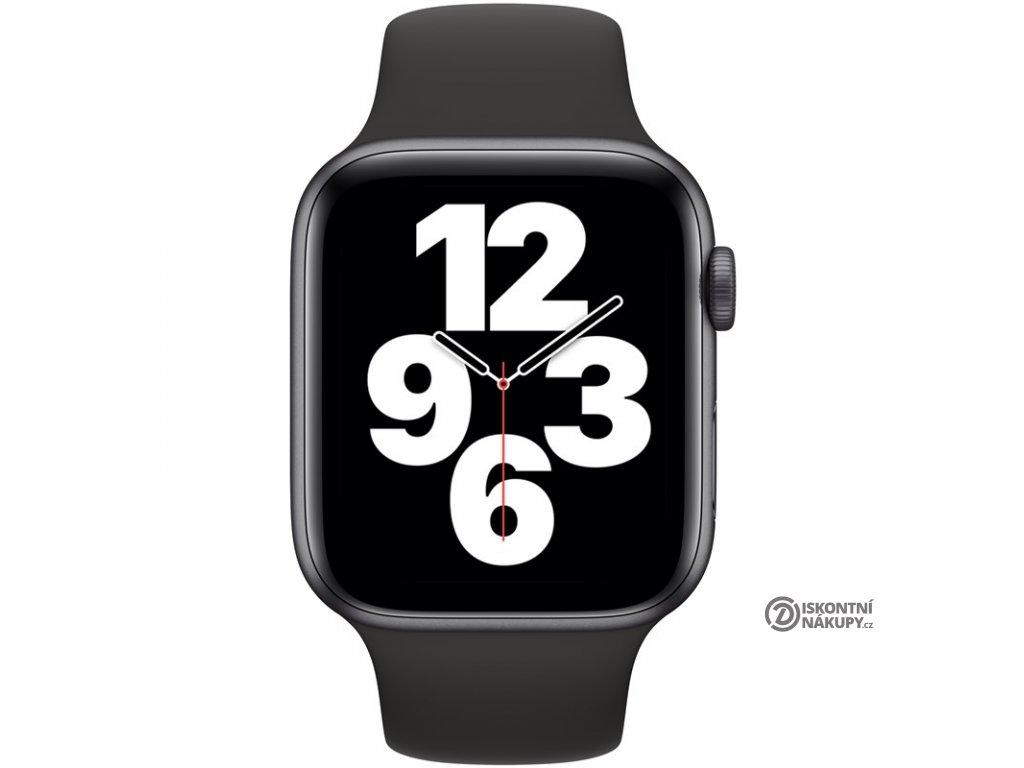 Chytré hodinky Apple Watch SE GPS 44mm pouzdro z vesmírně šedého hliníku - černý sportovní náramek  Vráceno-kosmet oděrky