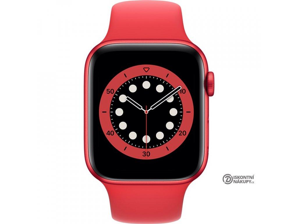 Chytré hodinky Apple Watch Series 6 GPS 44mm pouzdro z hliníku PRODUCT(RED) - PRODUCT(RED) sportovní náramek  Vráceno ve 14ti denní lhůtě