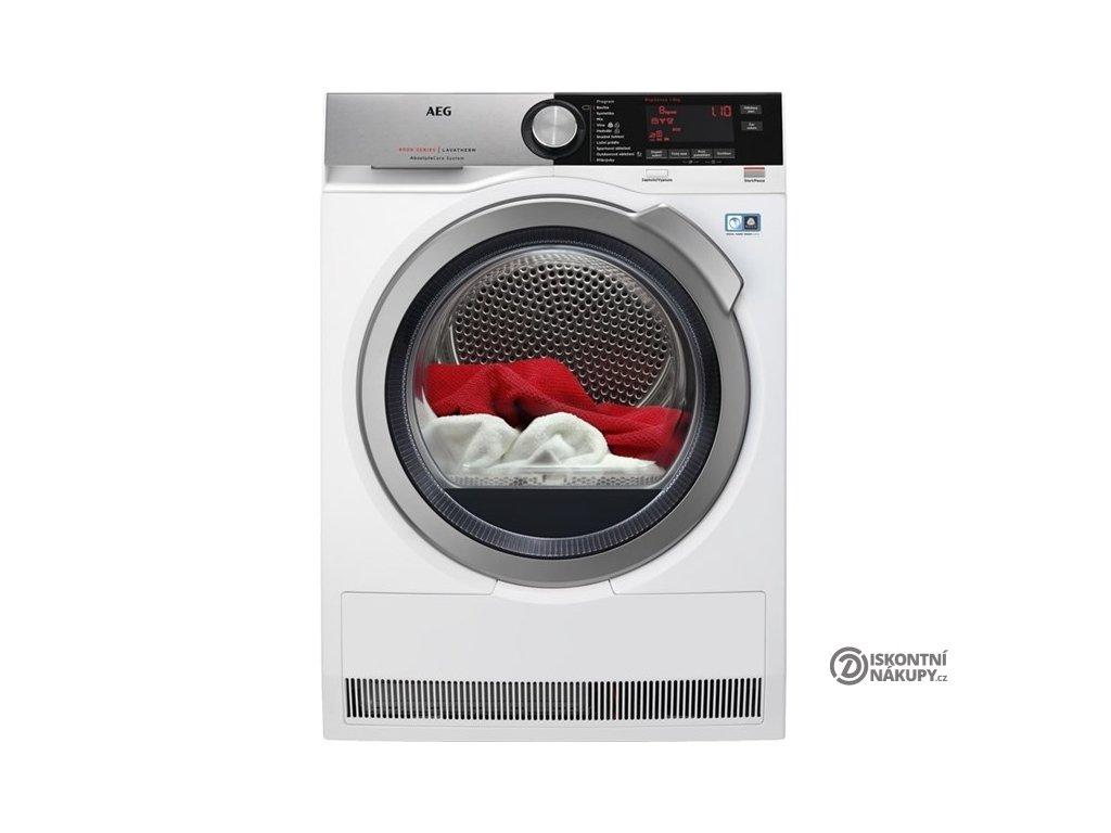 Sušička prádla AEG AbsoluteCare® T8DEC68SC bílá  nepoužito-rozbaleno